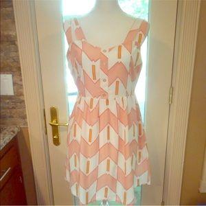 Francesca's Annabella sz m pink orange dress new